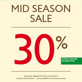 Coupon for: Mid Season Sale from Benetton at Antara Polanco ...